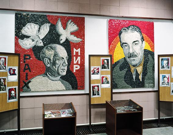 Picasso et Léger, œuvres en mosaïque de Nadia Léger, musée de ZEmbin, 25 mai 2014 © Thierry Girard